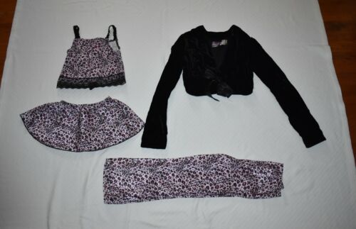 Dottie Loves Girls 6 Dance Lot Black Pink Cheetah Outfit Pants Old Navy Shrug