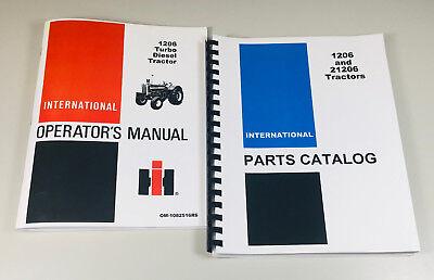 International Farmall 1206 Tractor Parts Assembly Catalog Operators Manual Set