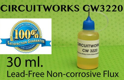 30 ml. / 1 Oz.   CIRCUITWORKS CW3220 NO CLEAN LIQUID FLUX