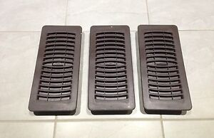 BROWN VENT REGISTERS - 3 for $5.00!