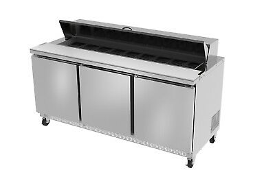 Ultra Cool 3 Doors 72 Sandwich Prep Table Cooler All Stainless 23 Yrs Warranty