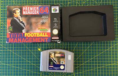 Premier Manager 64 Nintendo N64 Pal Boxed No Instructions