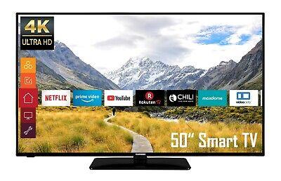 Telefunken D50U550B4CW 50 Zoll Fernseher - 4K UHD HDR Smart TV mit Triple-Tuner
