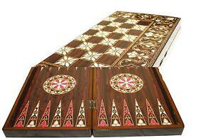 Yenigun Turkish Backgammon Set Game Case,  Wooden Board 15