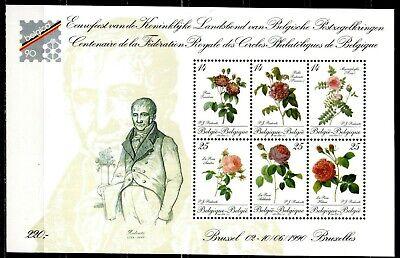 Les roses - bloc numéro 67 - prix de la poste 5,45 euros - prix demandé 2,90.