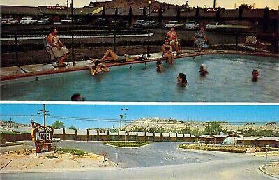 AZ Kingman HILL TOP MOTEL Pool - Sign Rte 66 Route 66 1959-64 postcard A66