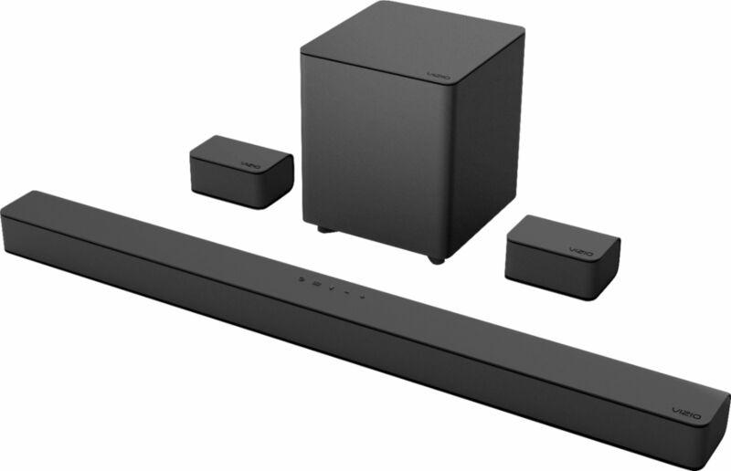 VIZIO - V-Series 5.1 Channel Sound Bar System with Wireless Subwoofer - Black