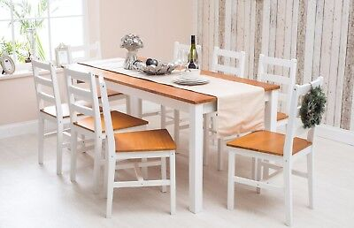solid pine wood dining set table and chairs dining room furniture rh ebay co uk white wooden dining room furniture White Dining Chairs