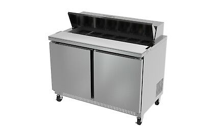 Ultra Cool 2 Doors 48 Sandwich Prep Table Cooler All Stainless 23 Yrs Warranty