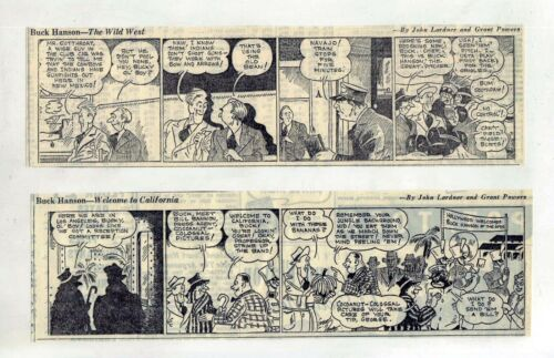 Buck Hanson by John Lardner & Grant Powers - 8 daily comic strips - Dec. 1939