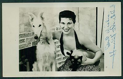 Vintage Wgal Channel 8 Hostess Harriet Strickland Signed Photograph