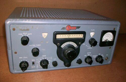 Rare Vintage ELDICO T-102 Ham Radio tube TRANSMITTER - Collins Clone - READ