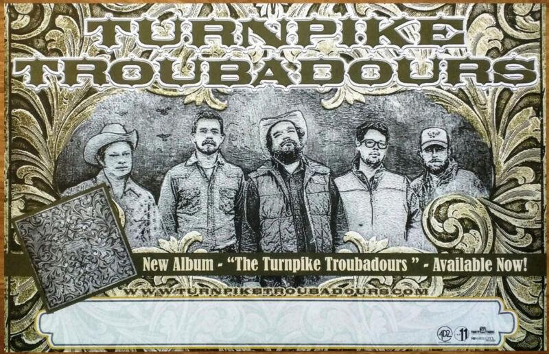 TURNPIKE TROUBADORS S/T Ltd Ed RARE Tour Poster +BONUS Folk Rock Country Poster!