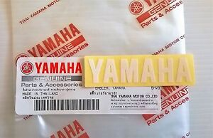 100-ORIGINALE-YAMAHA-60-mm-x-15mm-PICCOLO-BIANCO-ADESIVO-DECALCOMANIA-STEMMA