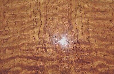 Waterfall Bubinga Kewazinga Figured Wood Veneer 30 X 38 On Wood Backer 125