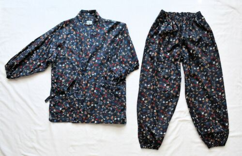 Japanese SAMUE Traditional Kimono work wear set size US M Dragonfly Vintage