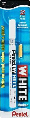 Pentel Permanent Marker Fine Tip White Ink 100ws 128389