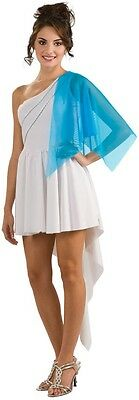 Womens Goddess Costume Greek Aphrodite Blue Fancy Dress Robe Gypsy Sexy Adult (Gipsy Costume)
