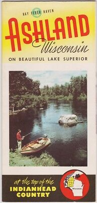 1950's Ashland Wisconsin Promotional Map Brochure