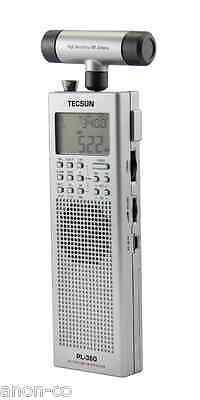 TECSUN PL360 PLL DSP Radio FM / AM / MW / LW / SW Portable Receiver (Silver)