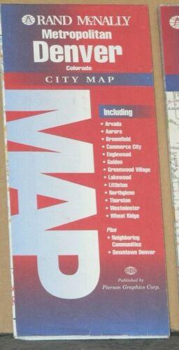 1998 Rand McNally Street Map of Metropolitan Denver, Colorado