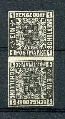 Bergedorf: Mi.Nr.2KZS * (Falzrest), sign. Gebr. Senf. Mi: 250,-