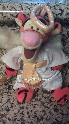 Disney Tigger dressed as a choir Angel New w tags Retired