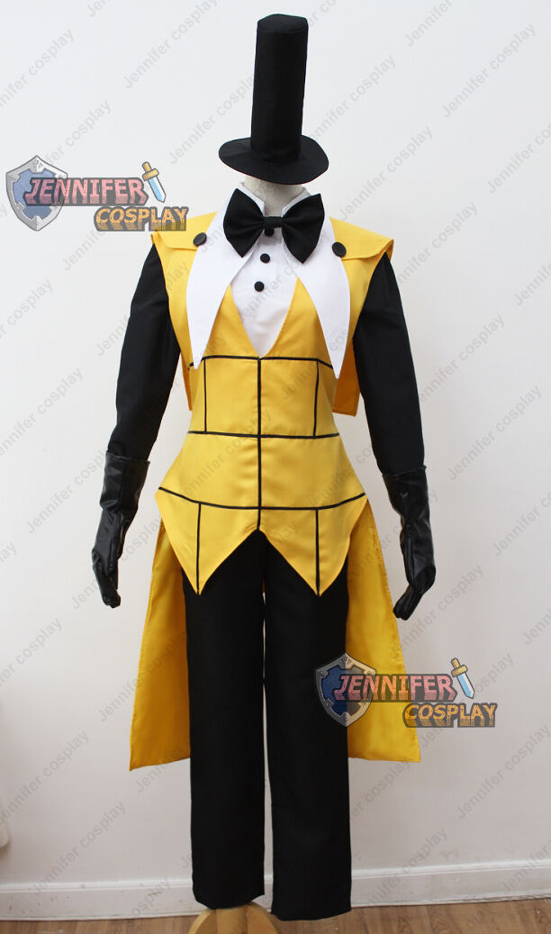 Cartoon Gravity Falls Bill Cipher Human Cosplay Costume