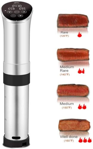 Sous Vide Precision Cooker  Digital LED Immersion Accurate 1000 Watt Sliver