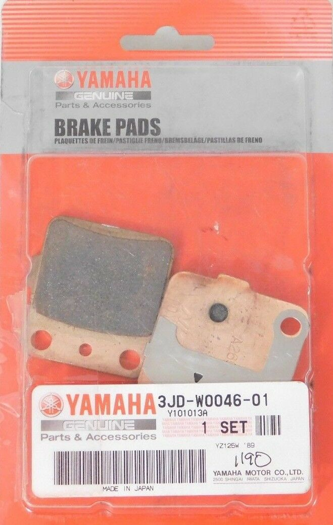 NEW Genuine YAMAHA Brake Pad Set Kit PADS OEM P/N 3JD-W0046-01-00 Original Parts