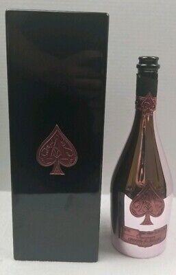 ACE OF SPADES  ROSE 750 ML (Armand de Brignac) CHAMPAGNE BOTTLE-CASE COMBO EMPTY