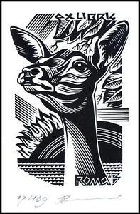 Leonenko Vasyl 2007 Exlibris X3 Hunting Jagd Roe Rogen Animals 1169 - <span itemprop='availableAtOrFrom'>Dabrowa Bialostocka, Polska</span> - Leonenko Vasyl 2007 Exlibris X3 Hunting Jagd Roe Rogen Animals 1169 - Dabrowa Bialostocka, Polska