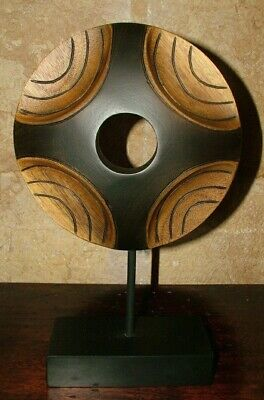 Sculpture Wheel Stand Energy New Age Design Feng Shui Chic Furniture Ethnic 1