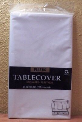 White Plastic Tablecover 84