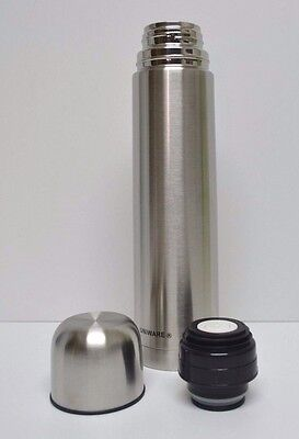 Vacuum Stainless Steel Insulated Coffee Bottle FLASK 1 Liter 1000ml