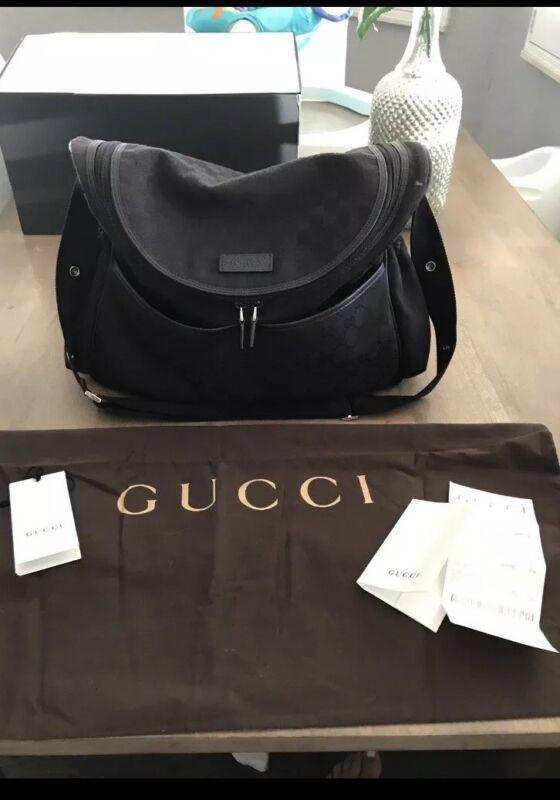 Black Gucci Diaper Bag