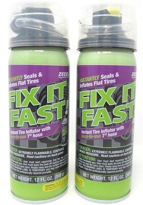 Zecol Emergency Tire Repair Seals Inflates Fix It Fast Hose 12 oz Each  2 Count ()