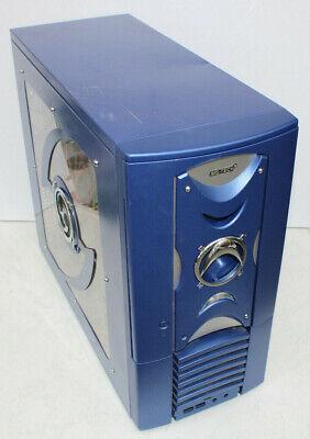 PC MS-TECH blau beleuchte Intel Core 2 6400 2x2.13GHz 2GB RAM 250GB HDD Win7 Pro