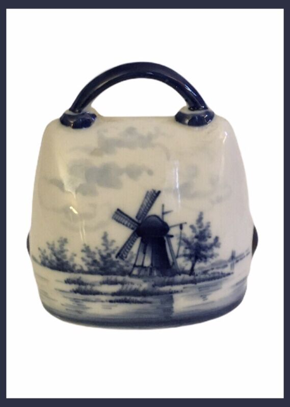Delft/Clisby Blue & White Bell - Windmill/Nature - Made In Germany (W442)