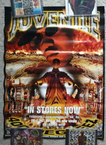 Juvenile 400 Degreez promo poster hip hop rap Cash Pixel Master P No Limit 1999