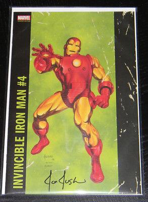 Invincible Iron Man 4 (2017) Joe Jusko Corner Box Variant SIGNED by JUSKO VF/NM