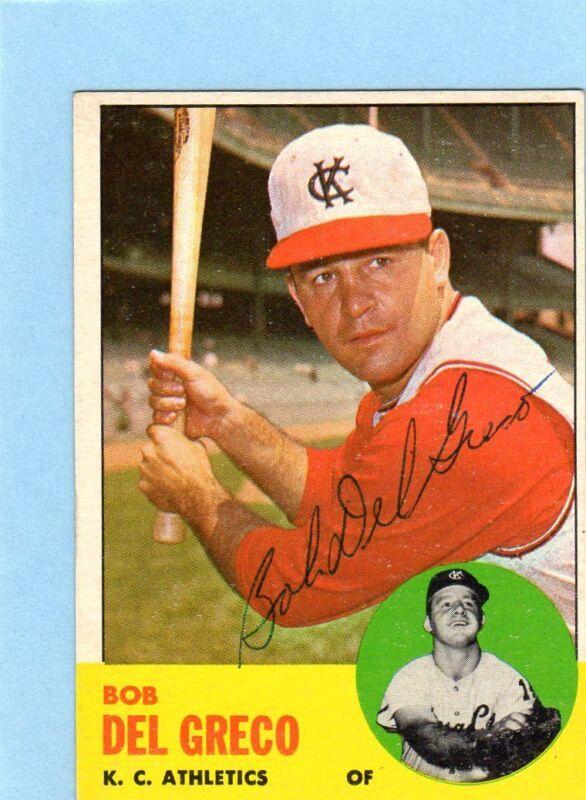 1963 Topps Signed Card JSA COA $24.99 Each Held/Romano/Lumpe/Jerry Walker/Lock