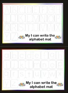 i can write the alphabet mats helps with motor