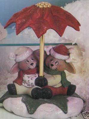 Ceramic Bisque Ready to Paint Reindeer Couple Parasol Music Box kit included
