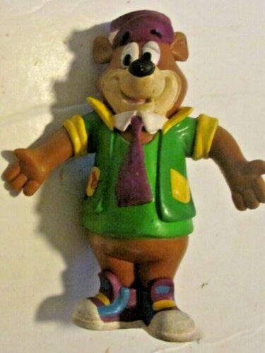 """Vintage YO YOGI Bear bendy bendable PVC figure 4.5"""", 1992 H-B Just Toys"""