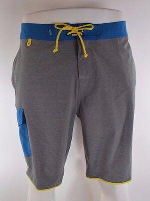 309718055e 2015 NWOT MENS ELEMENT SHERMAN BOARDSHORTS $60 32 grey blue drawcord  swimsuit