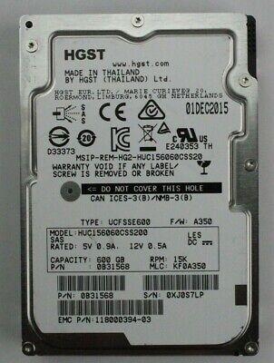 HGST Hitachi HUC156060CSS200 600GB 15K SAS 2.5