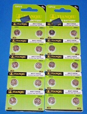 20  Pc's Watch Batteries  AG7  395  LR927 FREE SHIPPING Expires 2020