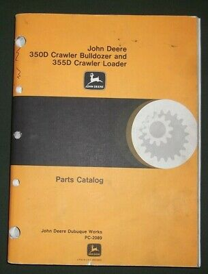 John Deere 350d 355d Crawler Tractor Dozer Loader Parts Book Manual Pc-2089