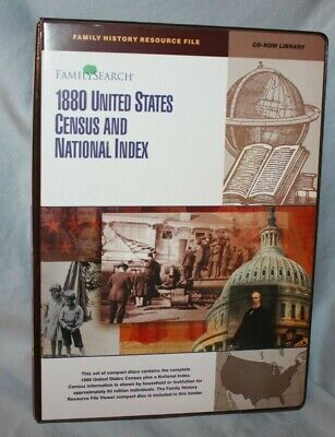 CD-Rom Library 1880 United States Census and National Index in Notebook C3R